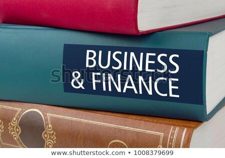 Boek titel business financieren geschreven wervelkolom Stockfoto © Zerbor