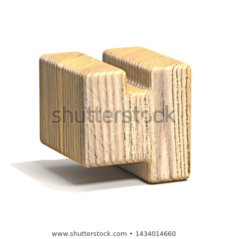 固体 木製 キューブ フォント 番号 4 ストックフォト © djmilic