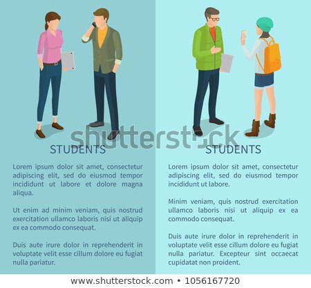College or School Teenagers, Faceless Characters Stock photo © robuart