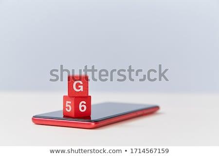 赤 キューブ キューブ 白 表 ストックフォト © Oakozhan
