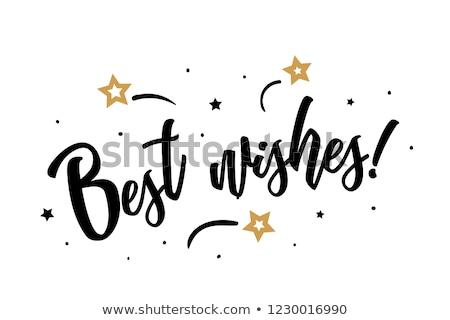 Happy Birthday Holiday Card, Best Regards Wishes Stock photo © robuart