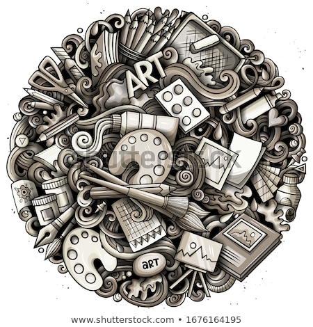 cartoon vector doodles art and design illustration toned artistic funny picture stock photo © balabolka