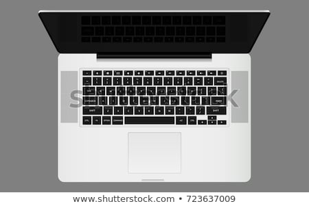 laptop with keyboard screen vector illustration stock photo © robuart