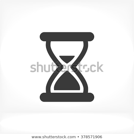 Kum saati ikon renk merdiven dizayn cam Stok fotoğraf © angelp