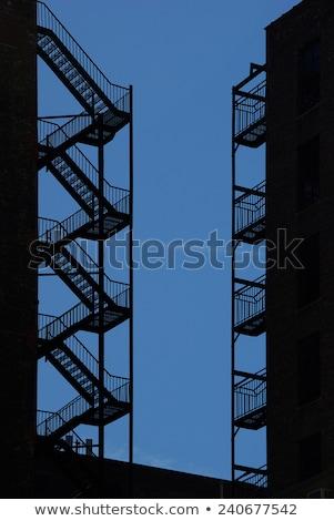 Ognia uciec strona budynku Zdjęcia stock © njnightsky