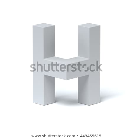 Blue extruded font Letter H 3D Stock photo © djmilic