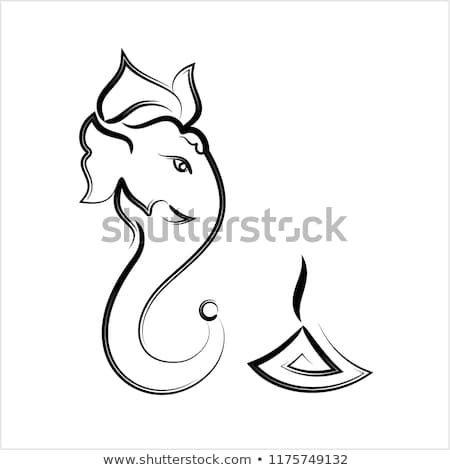 artistic lord ganesha festival background design Stock photo © SArts