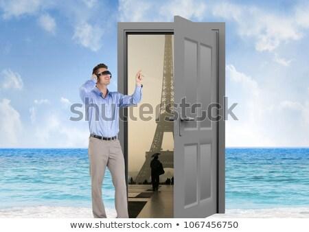 Işadamı gözlük plaj kapı Paris dijital bileşik Stok fotoğraf © wavebreak_media