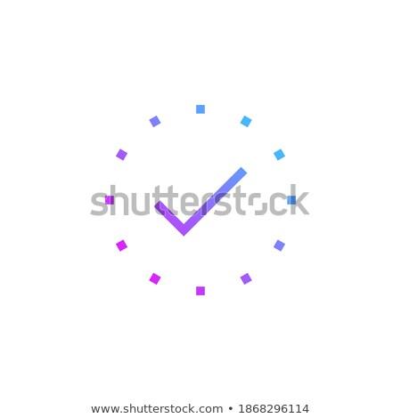 Stippel cirkel eenvoudige icon voorraad geïsoleerd Stockfoto © kyryloff