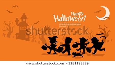 Halloween vacaciones anunciante diseno Cartoon vampiro Foto stock © izakowski