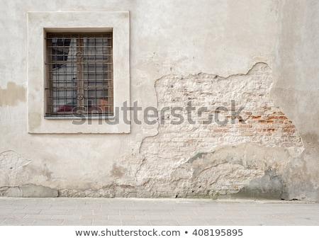 Abandonado grunge agrietado ladrillo estuco pared Foto stock © Lopolo