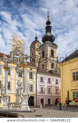 Kolom donau Oostenrijk vierkante architectuur Stockfoto © borisb17