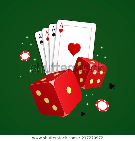 gamble with playing cards and two dices stock photo © johnkwan