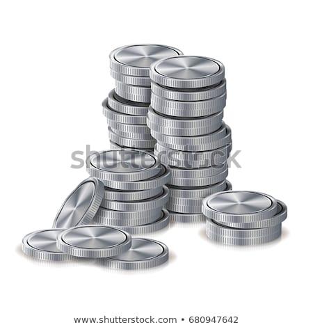 Geld munten zilver goud financiële Stockfoto © robuart