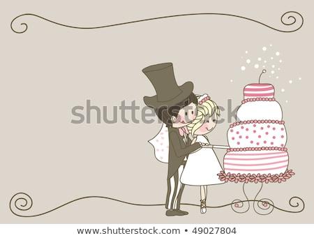 noivo · coração · vetor · casamento - foto stock © robuart