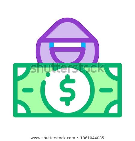 Stock fotó: Fake Banknote Fraudster Icon Vector Outline Illustration