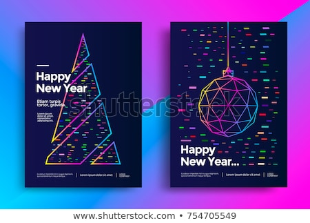 Zdjęcia stock: Wesoły · christmas · line · drzewo · festiwalu · minimalny