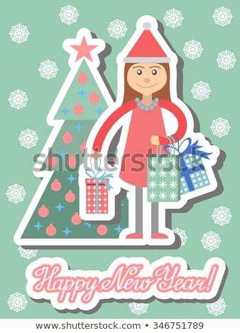 Typu Święty mikołaj zestaw kostium dziewczyna różny Zdjęcia stock © toyotoyo
