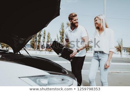 Energie bastaard voertuig vrouw vrouwen natuur Stockfoto © Lopolo