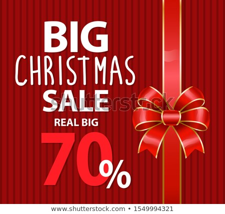 Groot christmas verkoop procent af reductie Stockfoto © robuart