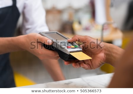 электронных оплата кредитных карт линейный иллюстрация чипа Сток-фото © vectorikart