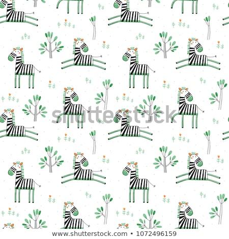 Sjabloon groene zebra patronen illustratie ontwerp Stockfoto © bluering