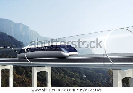 Hyperloop express transport train Stock photo © jossdiim