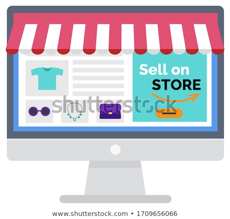 B2B Marketplace, Online Store Shopping Vector Stock photo © robuart