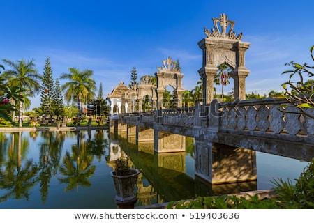 Víz palota Bali sziget Indonézia utazás Stock fotó © galitskaya