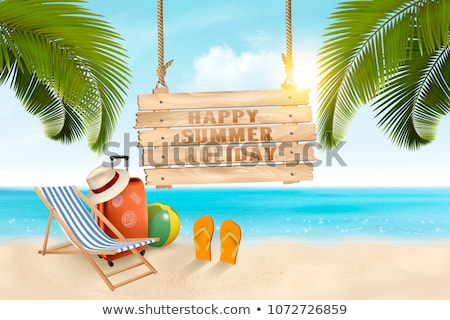 Vacation Sunny Beach Advertising Banner Vector Stock photo © pikepicture