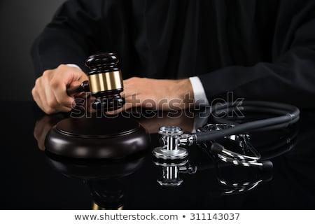 Juiz mãos gabela estetoscópio mão Foto stock © AndreyPopov