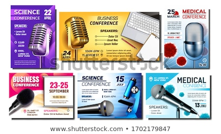 Science Conference Promo Advertising Poster Vector Stock photo © pikepicture