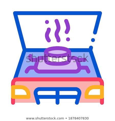 Gép probléma ikon vektor skicc illusztráció Stock fotó © pikepicture