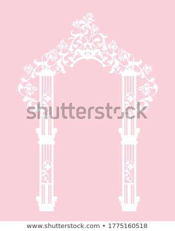 Elemento romántica ceremonia boda arco vector Foto stock © robuart
