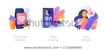 Health maintaining and wellbeing abstract concept vector illustrations. Stock photo © RAStudio