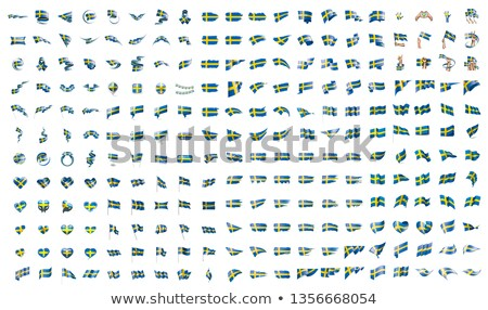 Nagy gyűjtemény vektor zászlók Svédország utazás Stock fotó © butenkow