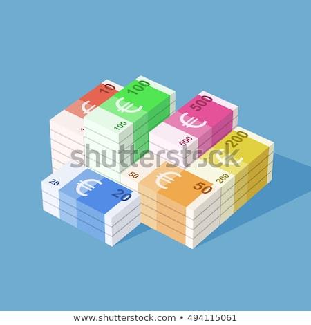 Flat simple ten euro banknote on white Stock photo © evgeny89