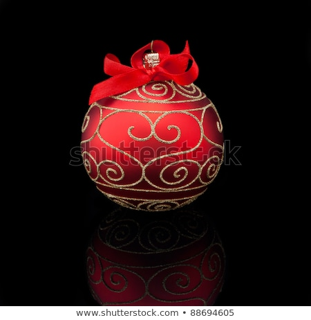 Black and red Christmas bulbs Stock photo © orson