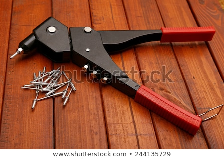 steel fixation of wood construction Stock photo © gewoldi