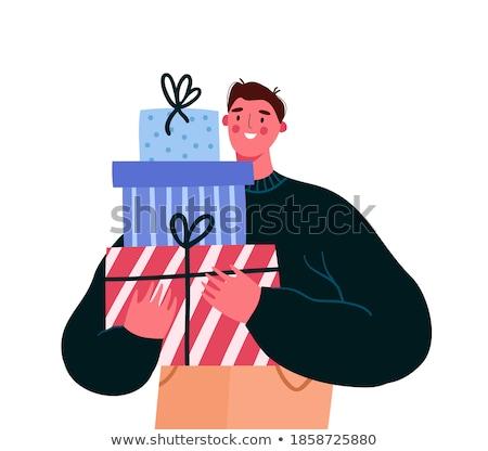 Man with present Stock photo © leeser