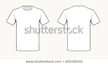 Zdjęcia stock: Tshirt · szablon · front · powrót · czarno · białe · moda