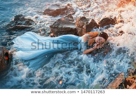 red head woman sleeping Stock photo © smithore