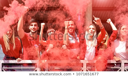 Group of young Spanish football supporters Stock photo © photography33