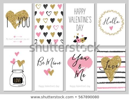 Rood · valentijnsdag · kaart · witte · hartvorm · tekst - stockfoto © wad
