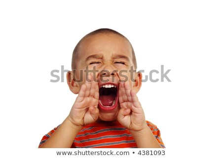 Horizontal portrait of a young boy yelling  Stock photo © dacasdo
