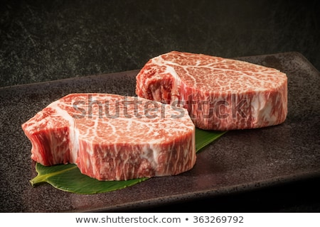 steak with marbled beef with vegetables Stock photo © zybr78