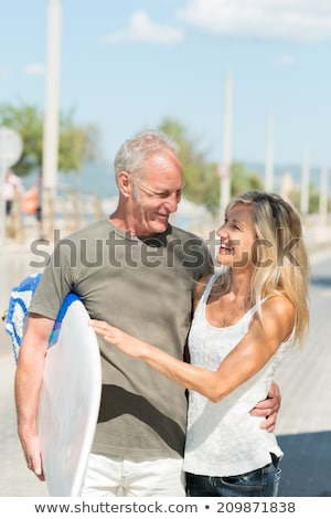 Stock photo: middle-aged couple going in for sport