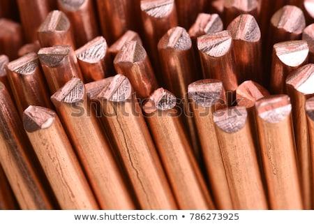 Réz drót tekert felfelé cséve ipar Stock fotó © stevanovicigor