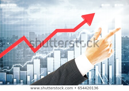 business male pointing upwards stock photo © stockyimages