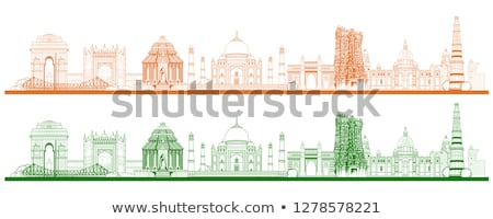 India Gate on Tricolor Background Stock photo © vectomart